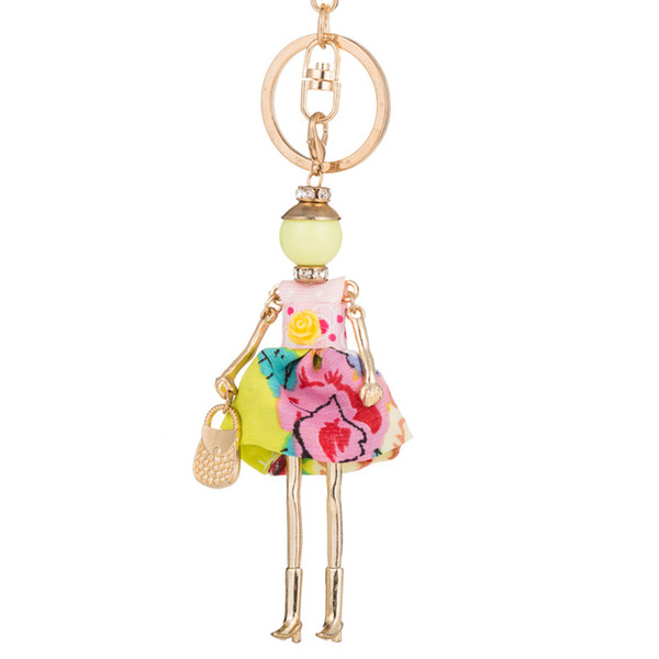 Sweet spring fashion Doll baby Keychain Car Key Chain Key Ring Holder Charm Pendant For Women Female Girls Bag Pendants