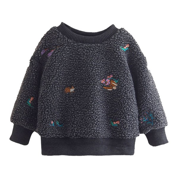 Yeni Varış Bebek Kız Tişörtü Kış İlkbahar Sonbahar Çocuk hoodies uzun kollu Çocuk kazak çocuklar Kız giysileri