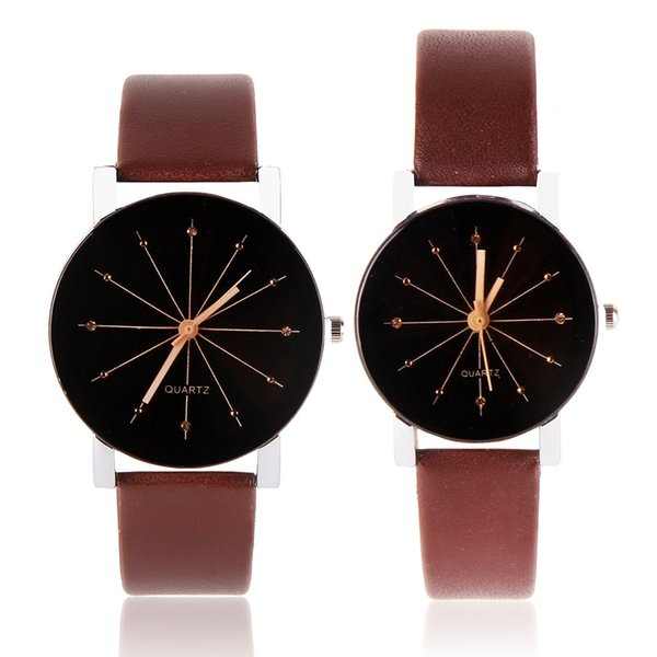 Foreign trade fashion rhombus glass top watch male and female size lovers watch manufacturers direct inventory