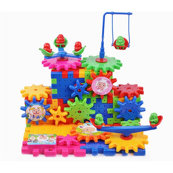 New Hot Toy Creative Gear Toys Electronic Building Diy 3d Puzzle Building Toys Learning Education Toys Brinquedos 81 Parts
