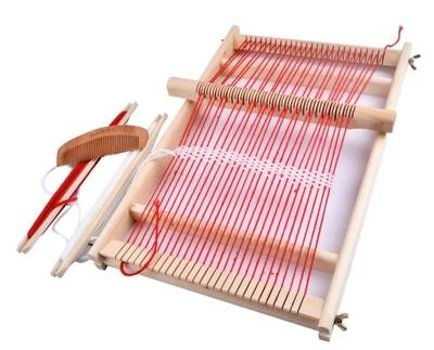 Baby Toys Pretend Play Toys Wooden Traditional Weaving Loom Childrens Wooden Toy Educational Gift Craft Weaving Frame