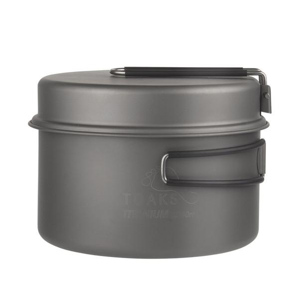 Toaks Titanium Cookware Cooking Picnic Outdoor Camping Titanium Pan Pot Set Portable Cookware Folding Handle Ckw -1350