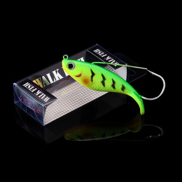 WALK FISH 1PCS 8cm 21.4g Fake Fish Lure Anti Grass Fishing Wobbler Artificial Bait Hard Lures Laser Body Lifelike Fish Tackle Y18100906
