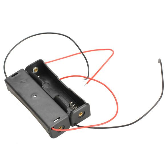 best selling 5X Single Slot 18650 Mobile Battery Clip Case Holder with Wire Leads DIY High Quality