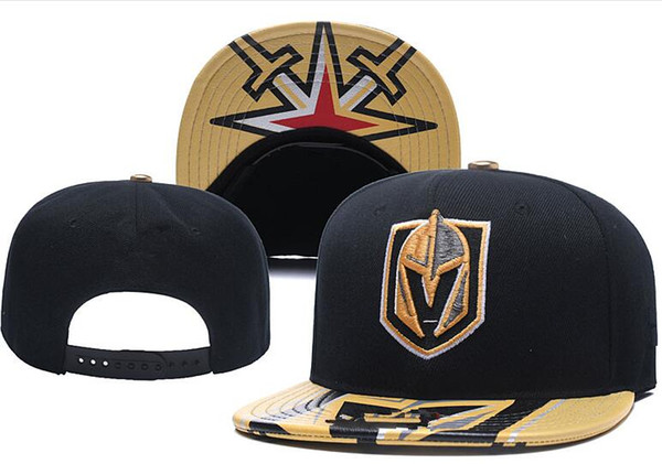 best selling New Caps Vegas Golden Knights Hockey Snapback Hats Black Color Cap Gold Black Gray Visor Team Hats Mix Match Order All Caps Top Quality Hat