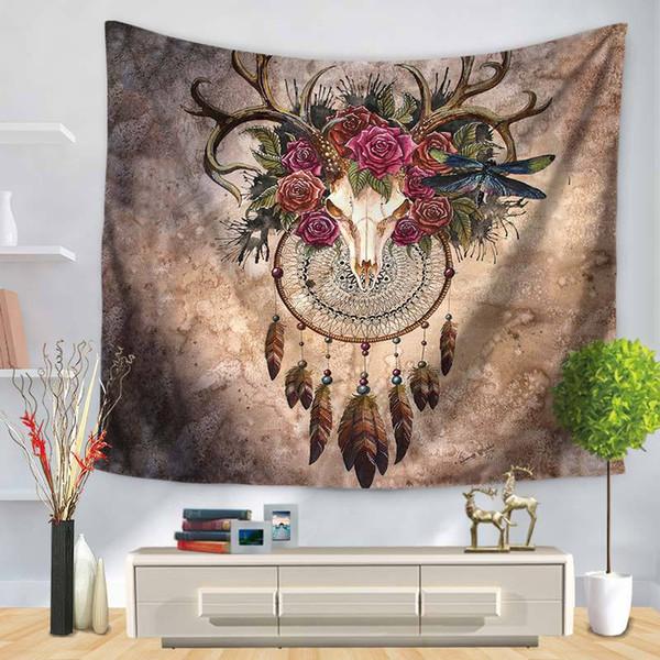Acheter Tapisserie De Plante Abstrait Geometrique Comme Plafond Pique Nique Tapis De Plage Serviette Decorations Pour La Maison Salon Chambre Tenture