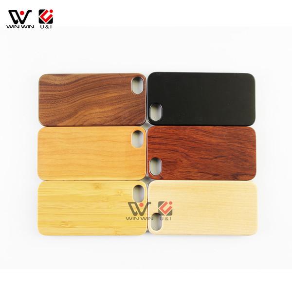 Pour iPhone 8 Bois Cas de Téléphone Protection Complète Flexible TPU Bumper Case Couverture de Téléphone pour Apple IPhone 6 6 plus 7 7 plus