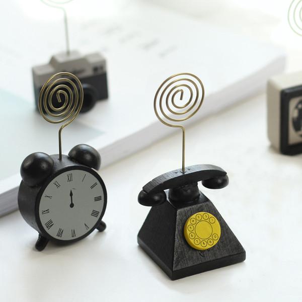 Простой ретро деревянный рабочий стол сообщение папка визитная карточка фото папка творческий милый моделирование камеры телефон моделирование