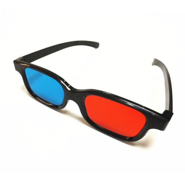 3D Gözlük / Kırmızı Mavi Mavi 3D Gözlük Anaglyph 3D Plastik Gözlük için