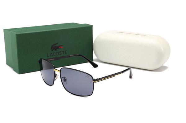 New Crocodile Men Sunglasses 8012 Rectangle Retro Style Fashion Designer Popular Occhiali da sole Lenti di protezione UV Full Metal Frame Glasses