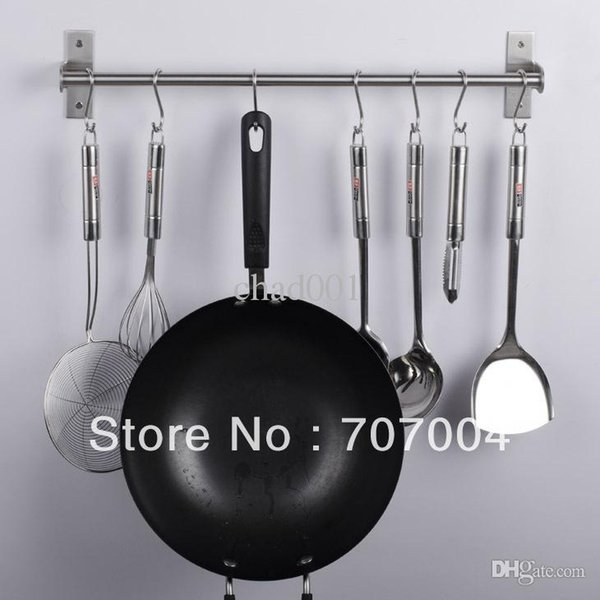 Wholesale-Multi-function 304 stainless steel kitchen & bathroom accessories hanger towel bar tableware cloth hooks storage shelf