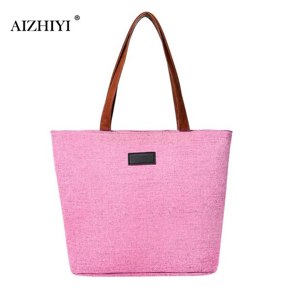Women Casual Canvas Handbag Large Shoulder Bag Solid Crossbody Messenger Bucket Women Lady Tote Bag Female Summer Beach Bags
