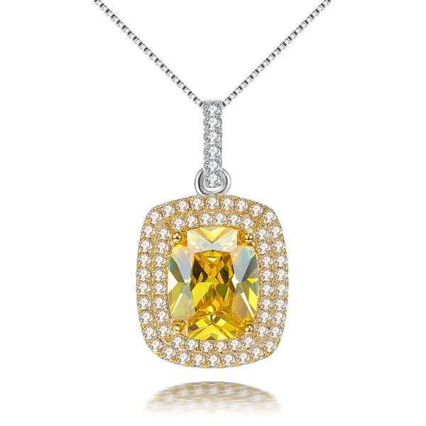 Pendentif incrusté de diamants luxueux avec pavé de diamants 3A grand collier de bijoux en zircon