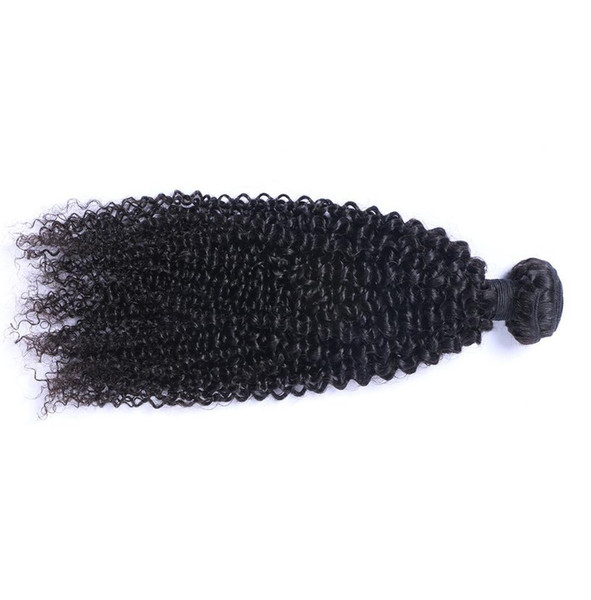 Malaysian Kinky curl Human Virgin Hair Weaves Natural Black Color 1B Bundle 100g/Bundle Double Weft Hair Extensions