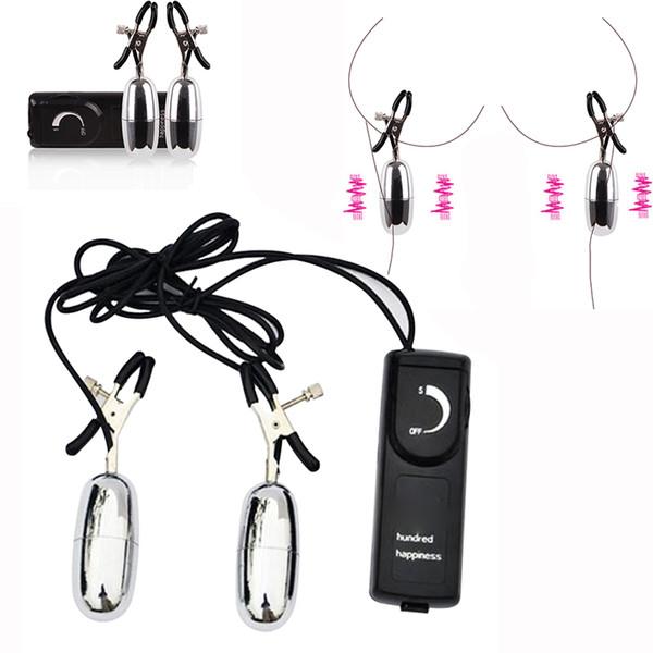 Multi Velocidade Vibratória Mamilo Grampos Elétrica Mamilo Clipe Estimuladores Vibradores Massageador Erótico Brinquedos Sexuais para Mulheres Produtos para Adultos