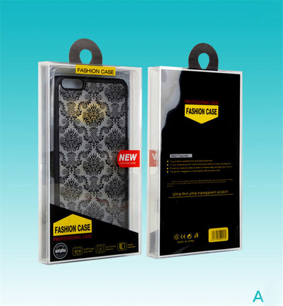 Crystal Retail Plastic Package Packing Box Empty PVC boxes For Cell Phone Case Back Cover phone case package iPhone 7 8 Plus X Samsung
