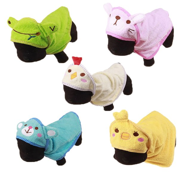 Hoomall Cute Cartoon Puppy Super Absorbent Bathrobes Pet Clean Supply Cute Pet Dog Towel Soft Drying Bath Towel For Dog Cat