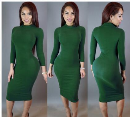 Women Winter Sexy Club Dress Plus Size 2017 Robe Party Dresses White Black Pink Green Bodycon Bandage Long Sleeve Maxi Dress