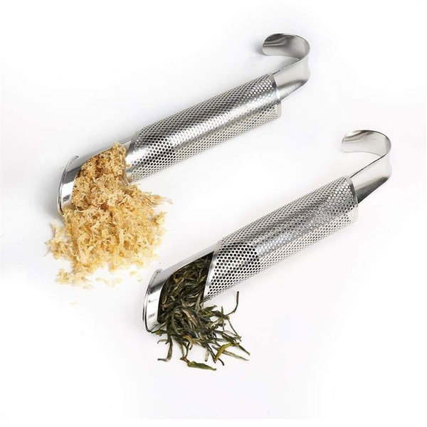 Stainless Steel Stick Pipe Steeper Strainer with Hook Tea Maker for Single Cup and Mug Brewer