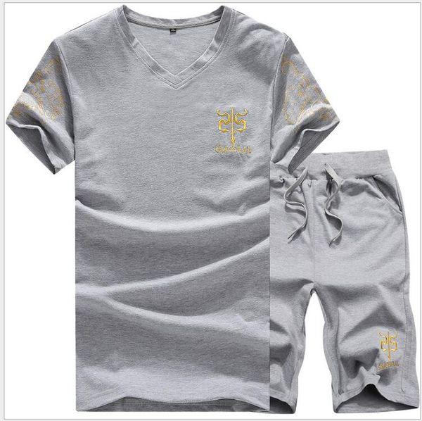 Tracksuit Mens Short Sets Summer Casual Polo Shirt Men Set Sportwear Fashion 2PCS Track Suit Top+ Shorts Male Brand Clothing Set t-shirt