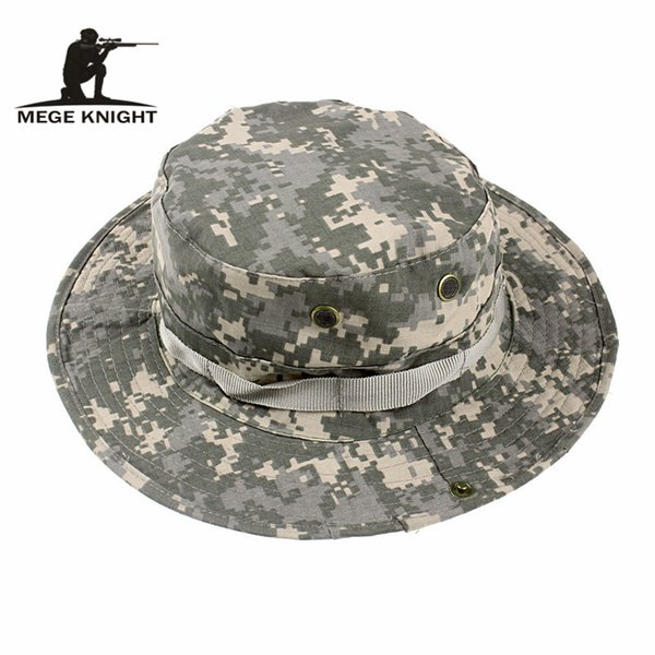 MEGE Summer Bucket Hats, Airsoft Sniper Camouflage Hats, Paintball Paintball Boonie Hats, Caps Outdoor Factory Direct Sale, Tamaño libre 59-60cm