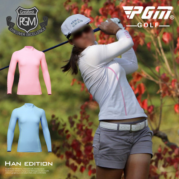 best selling 2018 PGM Women's Sunscreen T-shirt Golf Apparel Ladies Long Sleeve Tops Summer T Shirt Super Cool blouse size S-XL