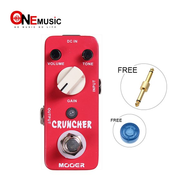 Mooer Cruncher Distortion Guitar Effect Pedal High Gain Distortion Sound with Powerful Mid Frequency Full Metal Shell True Bypass