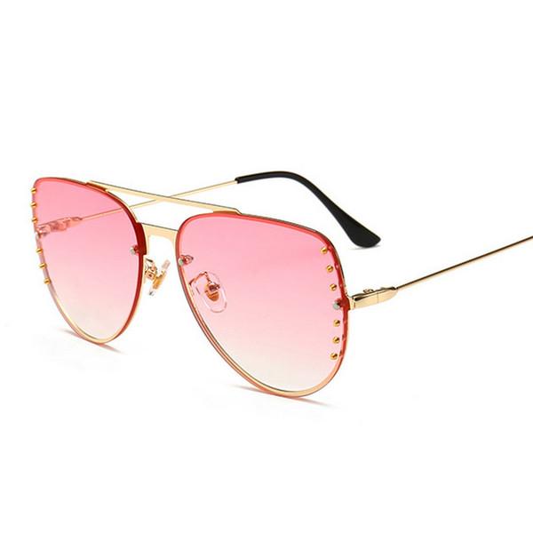 2019 New Flat Top Sun Glasses Oversized Goggles Mens One Piece Lens Sunglasses Women Fashion Famous Brand Rivet Black UV400 FML