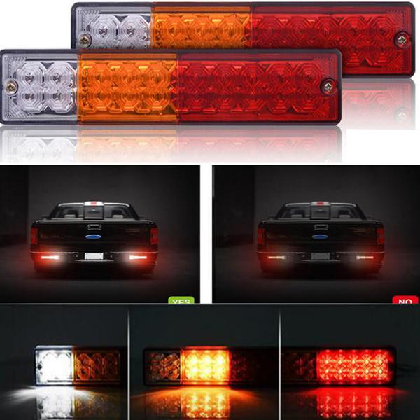 20 LED rot-gelb-weiß Beleuchtung ATV Trailer Truck Light Wasserdicht Blinker Reverse Brake Rear Lamp