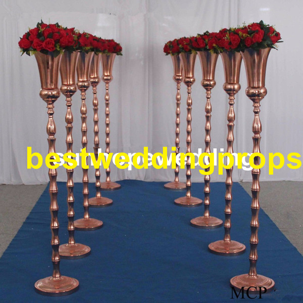 New style trumpet metal flower vase wedding centerpiece table vase for wedding decoration with metal vase for wedding best0467