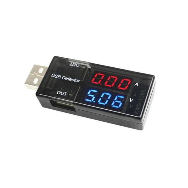 Carregador USB Detector de Tensão Atual Tester de Potência Dual Display Digital Volt Amp Medidor Para Android Telefone E iPhones QJY9