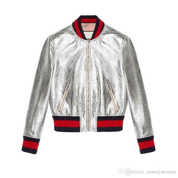 Großhandel Neue Jacke Frauen Baseball Jacke Mode Top Qualität Patch Farbe Leder Frühling Und Herbst Haut Mantel Für Frauen Mäntel Von Xlccoat, $48.08