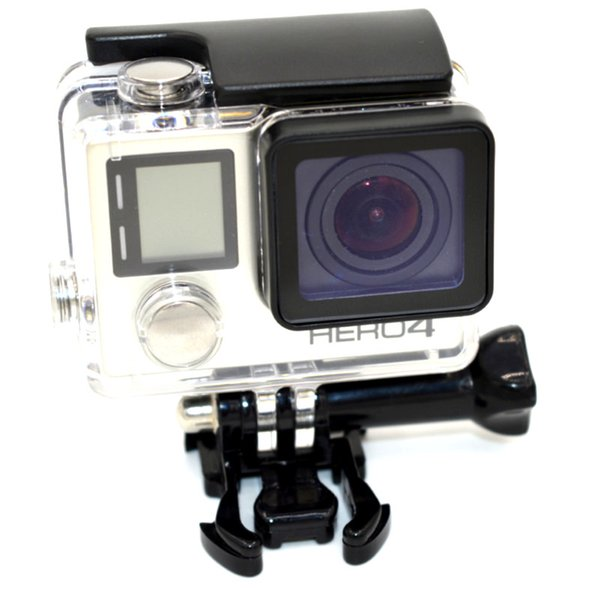 для GoPro 4 Аксессуары водонепроницаемый корпус чехол для Gopro Hero 4 3+ Hero4 черный GP225