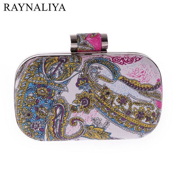 New Women Clutch Elegant Stained Oil Painting Evening Bag Wedding Party Bridal Handbag Ladies Chain Shoulder Bag SMYXST-E0145