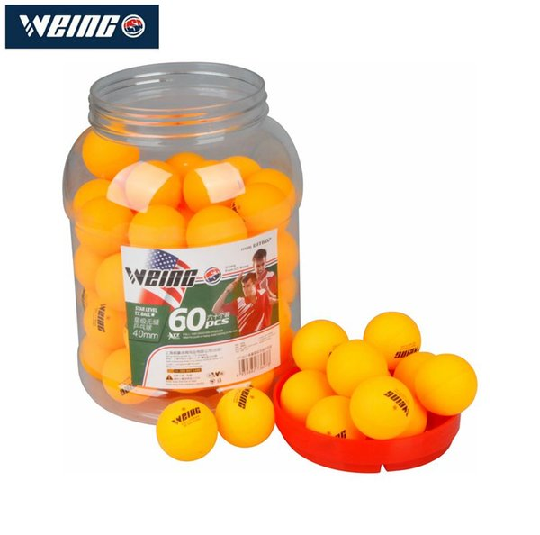 WEING 60 pieces are equipped with star class 40mm 2.8g yellow table tennis amateur advanced training ball
