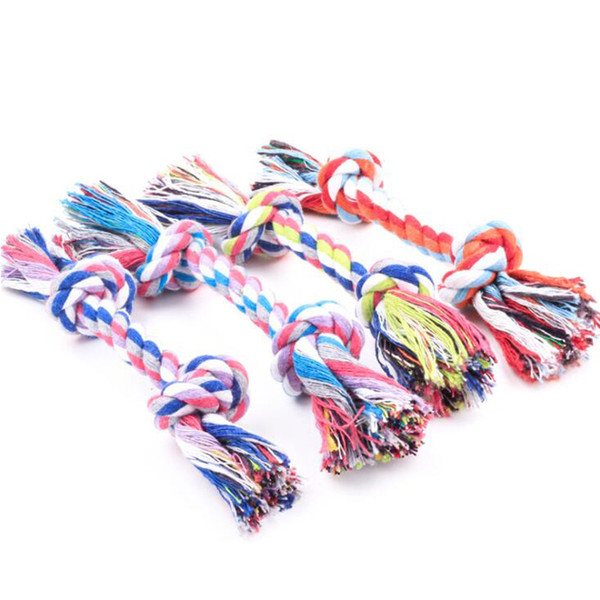Small Dog Toys Braided Knot Ball Pet Dog Toys Bone Chew Rope Dog Puppy Train Toy Knot Home Garden Pet Supplies Funny Tool