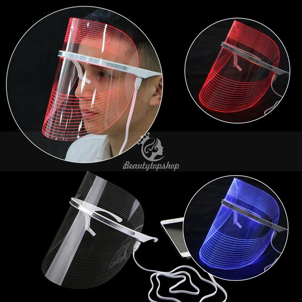 Hot LED photon therapy Red light acne removal Blue light skin sterilization Anti-aging Facial led mask
