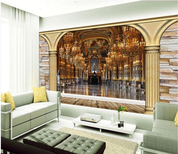 3d wallpaper benutzerdefinierte fototapeten europäischen kirche architektonische landschaft hintergrund wohnkultur 3d wandbilder wallpaper für wände 3 d