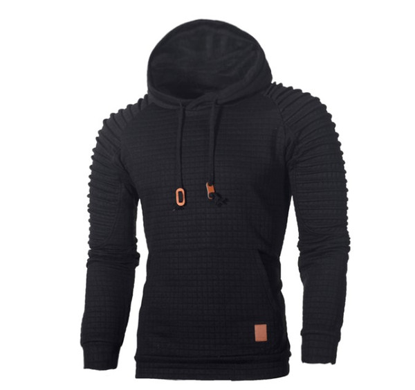 2018 Europe and America Men's Jacquard Striped Sweater Long Sleeve Hoodie Warm Color Hooded Sweatshirt Jacket