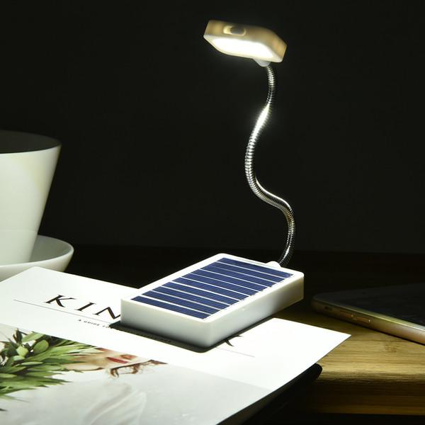 Mini Solar Power LED Book Light Clip On Flexible Adjustable LED Table Lamp Book Reading Light Portable Mini USB Lamp