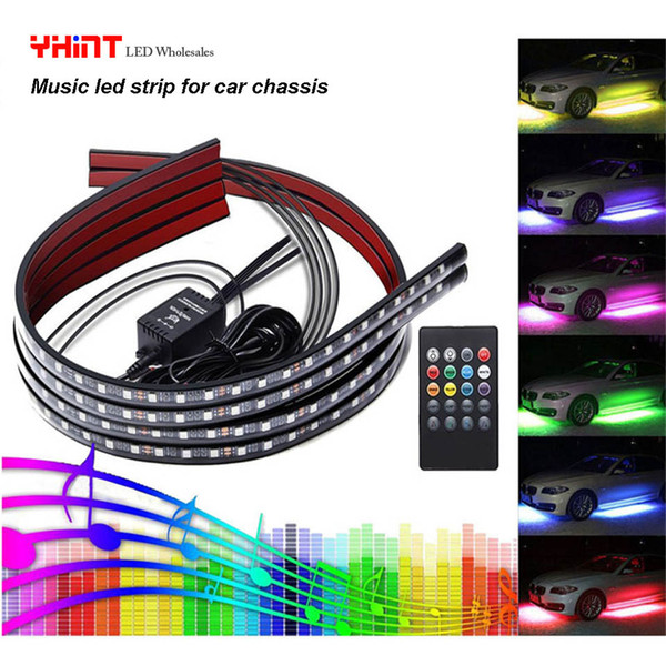 Waterproof Atmosphere Music Led Lights Strip Car Exterior Chassis Car Tail Lamp Strip 58 Led Waterproof Led Strip Lights Outdoor Led Strip Lighting