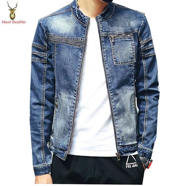 Großhandel Großhandels Great Quality Single Reißverschluss Brusttasche Denim Jacke Men Fashion 2016 Frühling Herbst Herren Jeans Jacken Von Nemin,