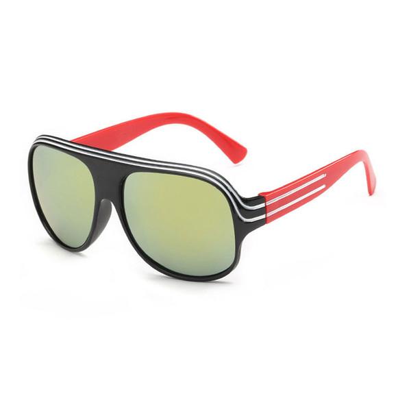 Fashion PC frame New Children HD lenses Sunglasses Kids Child sunglasses For Girls Boys Goggle Baby protect eye UV400 eyeglasses go outdoor