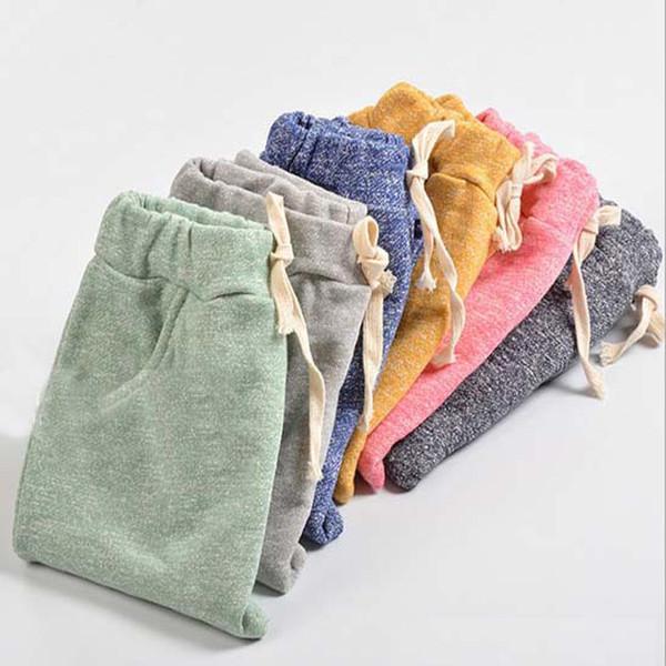 SQBCMW 2018 vente chaude sophie enfants sarouel pour bébé garçons pantalons enfants enfant pantalons décontractés bonbons couleurs unies
