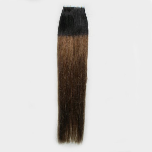 """Cheap Sales Apply Tape Adhesive Skin Weft Hair 18"""" 20"""" 22"""" 24"""" Human Hair Extensions 100g 40pcs 1B/6 Two Tone ombre tape hair extensions"""