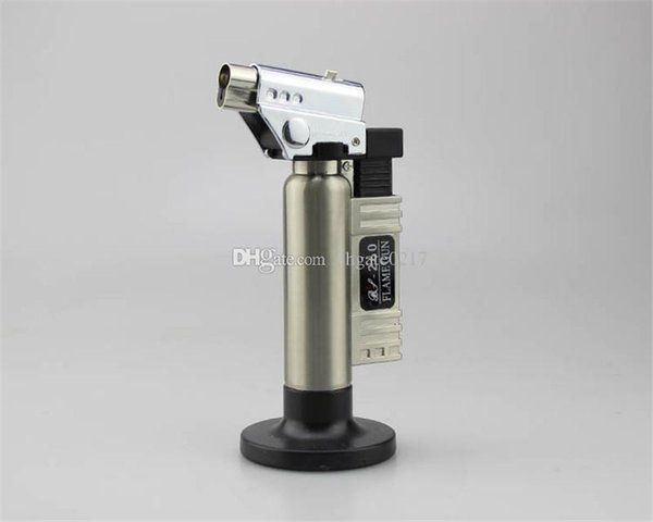 high quality 1300C Butane Scorch torch jet flame torch lighter kitchen Giant Heavy Duty Butane Refillable Micro Culinary Torch dhl free