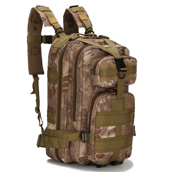 Multifonctionnel Molle Militaire Tactique Sports De Plein Air Sac À Dos Camping Randonnée Trekking Escalade Oxford Camouflage 3P Sac À Dos En Gros