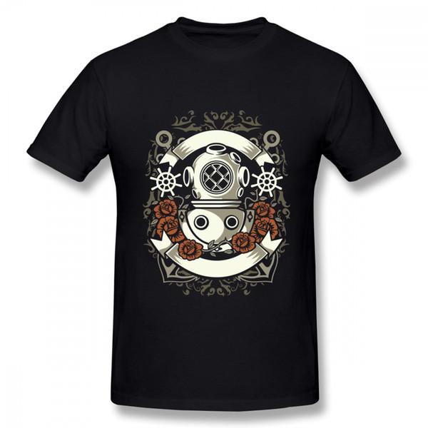 Verrückter Taucher im Taucheranzug-T-Stücke Heißer Verkauf neue Ankunfts-T-Shirt Unisex 100% Baumwolle einzigartig für männliches T-Shirt