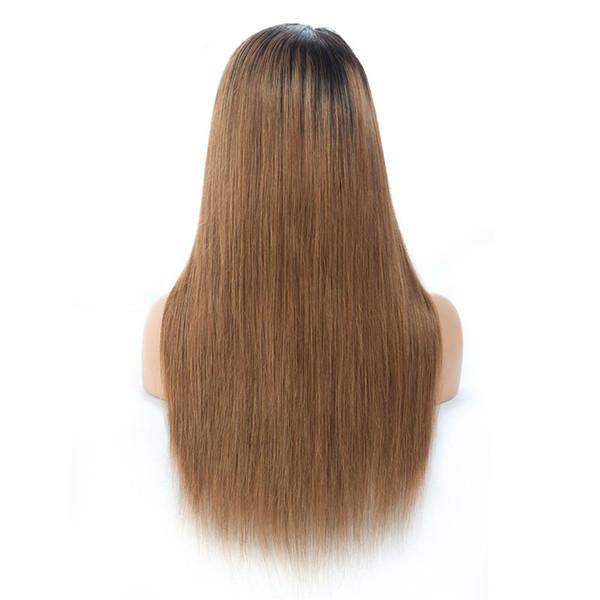 Pelucas de cabello humano frente del cordón Glueless pre desplumados con pelucas de encaje recto sedoso brasileño del pelo del bebé para la peluca brasileña del pelo de la Virgen