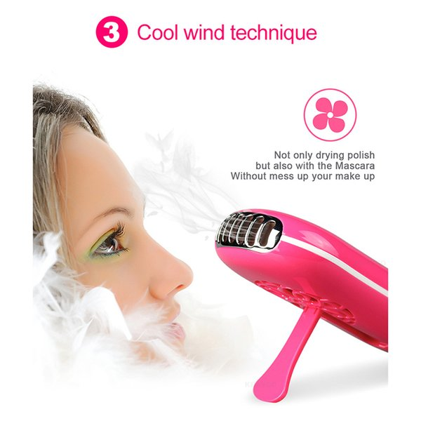 6 Colors USB Mini Nail Dryer Fan Eyelash Dryer Air False Eye Lash Mascara Quick Drying Makeup Device Tools
